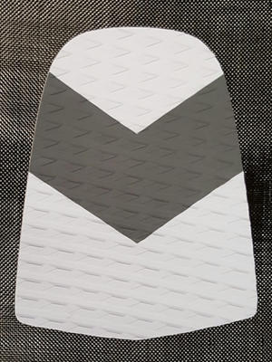 WHITE and GREY Rear Pad