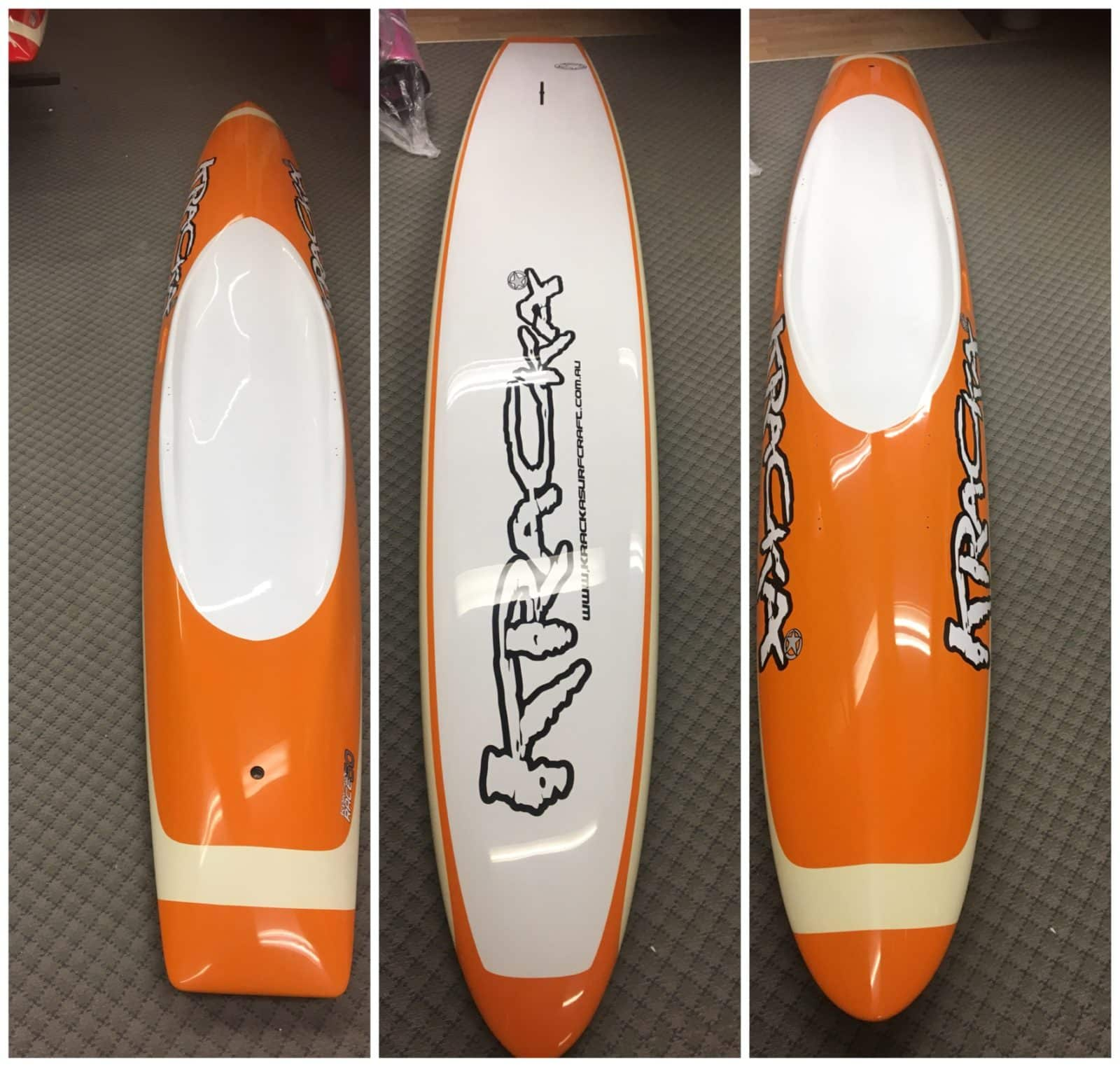 Orange/ Cream Oval Paddleboard -