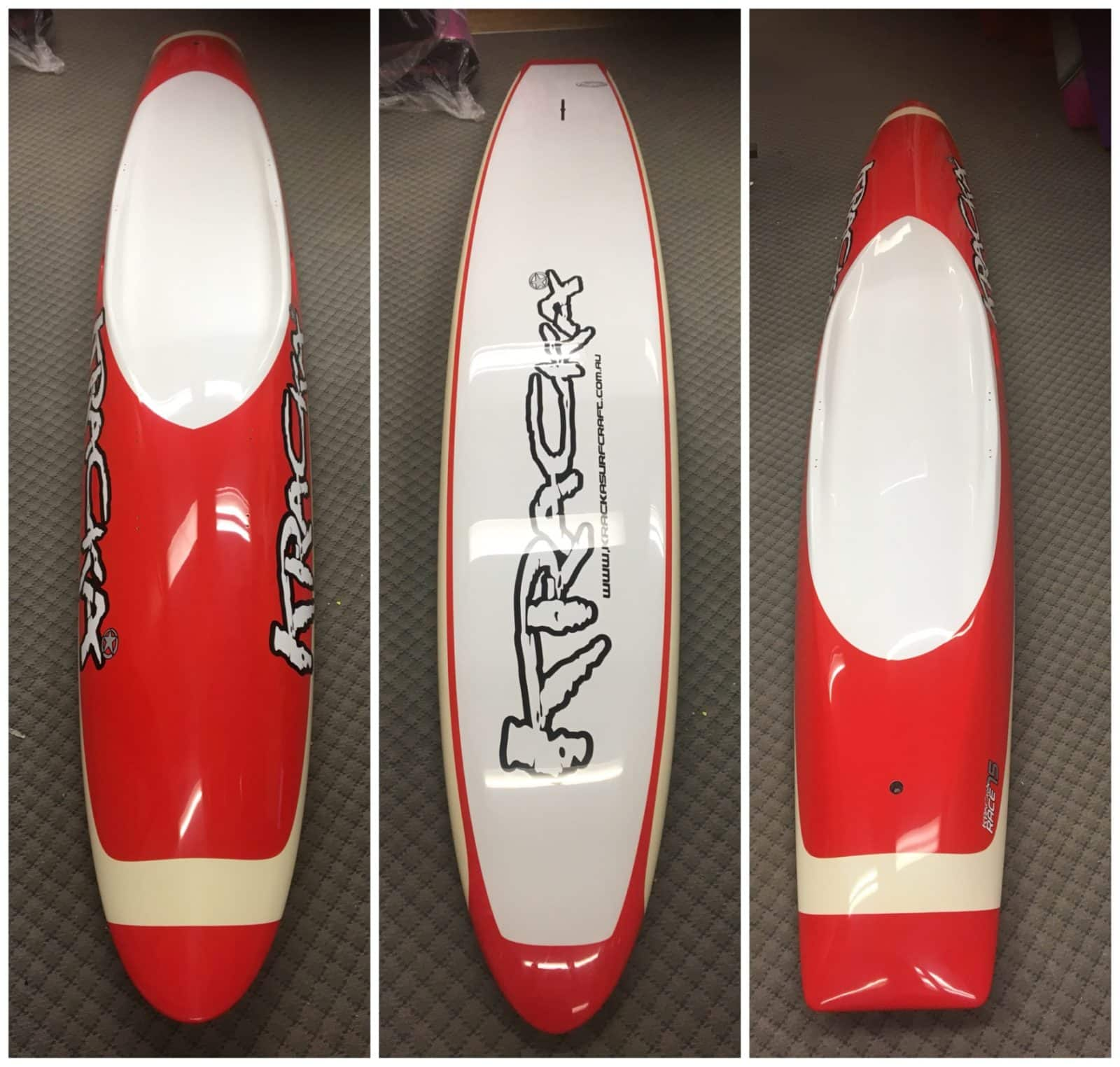 Red/ Cream Oval Paddleboard -